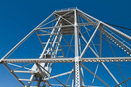 hijsen: Staal hijsen van een zilveren mijne Tonopah, Nevada