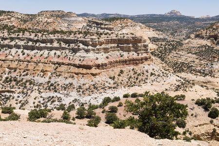 vistas: Stone mountainous vistas through the central Utah desert