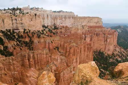 viewpoint: Bryce Canyon National Park in the rain, Bryce, Utah Stock Photo
