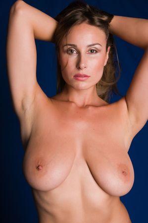Pretty Russian woman posing nude