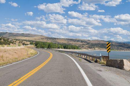echo: Echo Dam Road along Echo Reservoir near Coalville, Utah