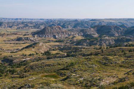 ノースダコタ、セオドア ・ ルーズベルト国立公園、バッドランズ国立公園・ メドラ ・ 写真素材