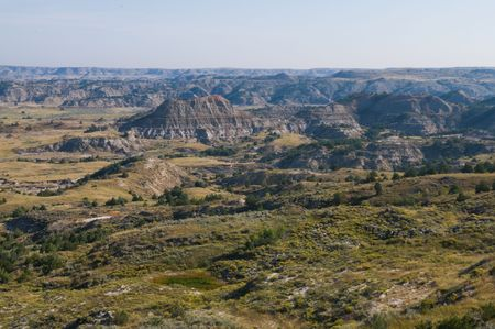 The Badlands, Theodore Roosevelt National Park, Medora, North Dakota 免版税图像