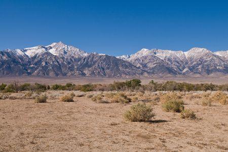 sierra: A view of the eastern Sierra Nevadas from Manzanar, California Stock Photo