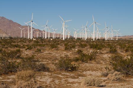 Wind farm, Palm Springs, California Stock Photo - 5775280