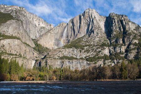 merced: Upper Yosemite Falls & Merced River, Yosemite National Park, California