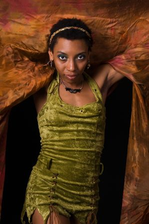 africanamerican: African-American dancer in a colorful costume