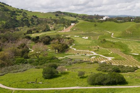 livermore: Golf course and vineyard, Del Valle Regional Park, Livermore, California