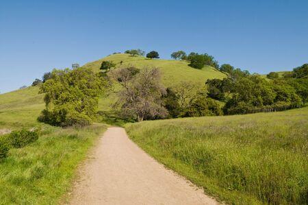 livermore: Walking trail, Lake Del Valle Regional Park, Livermore, California Stock Photo