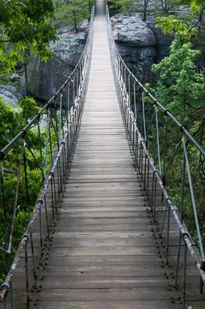 Suspended footbridge, Lookout Mountain, Georgia Stok Fotoğraf