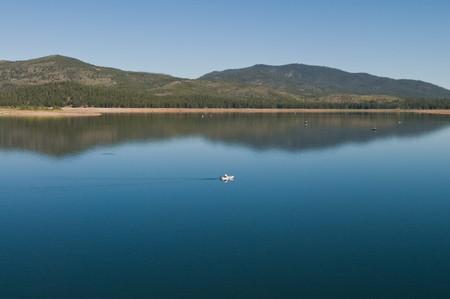 stampede: Stampede Reservoir, Tahoe National Forest, California Stock Photo