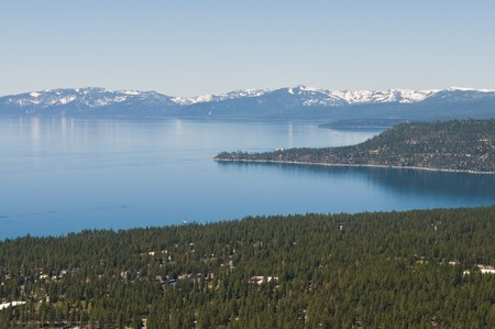 incline: Looking down on Incline Village & Lake Tahoe, Nevada