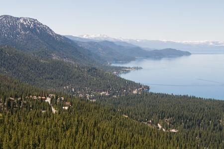 tahoe: Looking down on Incline Village & Lake Tahoe, Nevada
