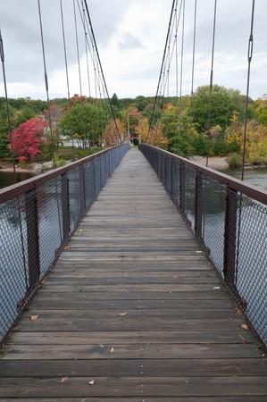 footbridge: Footbridge across the Androscoggin River, Brunswick, Maine Stock Photo