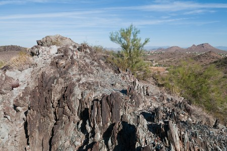 ridgeline: Rock formations in the desert, Phoenix, Arizona