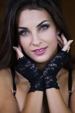 Beautiful Czech woman in a black bodysuit Stock Photo - 8369649