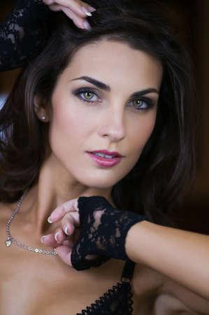 Beautiful Czech woman in a black bodysuit Stock Photo - 8368872