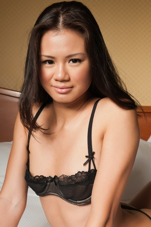singaporean: Pretty young Singaporean woman in skimpy lingerie