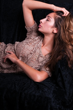 israeli: Pretty young Israeli woman in a lace blouse