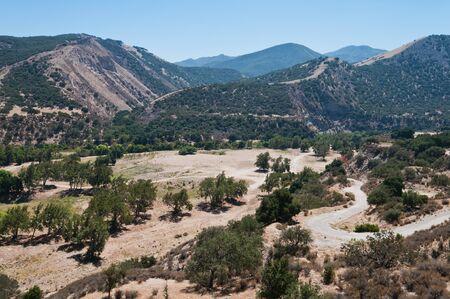 arroyo: Arroyo Seco river gorge near Greenfield, California