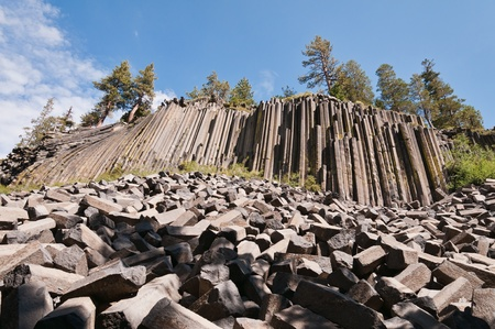 mammoth lakes: Devils Postpile National Monument, Mammoth Lakes, California Stock Photo