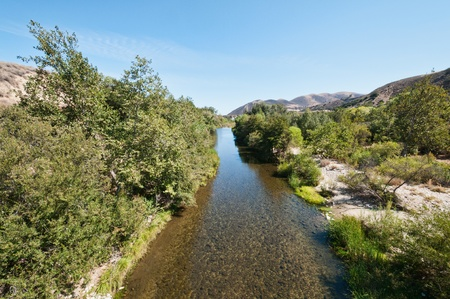 arroyo: Arroyo Seco River near Greenfield, California Stock Photo