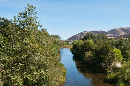 greenfield: Arroyo Seco River near Greenfield, California Stock Photo