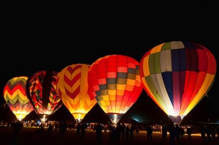 caliente: Globos de aire caliente en la gran carrera de globo de Reno, Reno, Nevada