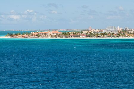 the netherlands: Approaching Oranjestad, Aruba, Netherlands Antilles by sea