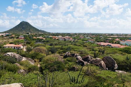aruba: A view from Casibari Rock Formation, Aruba