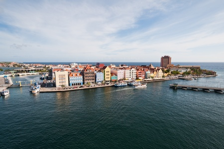 Colorful buildings of Willemstad, Curacao, Netherlands Antilles 免版税图像
