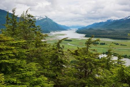 Looking down on Gastineau Channel, Juneau, Alaska