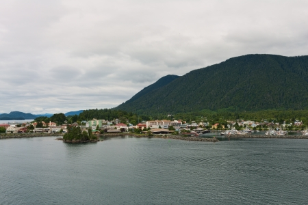 crescent: Crescent Bay, Sitka, Alaska Stock Photo