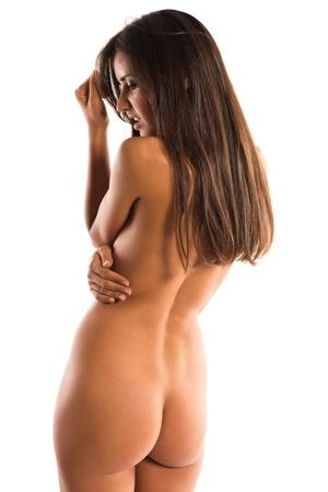 Beautiful slender Romanian brunette topless