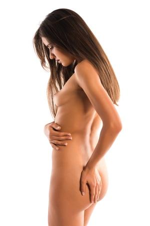 Beautiful slender Romanian brunette topless Stock Photo - 15512927