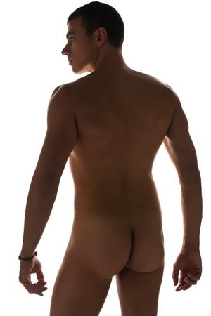 joven desnudo: Tall apuesto joven desnudo Foto de archivo