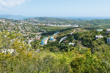 the virgin islands: Looking out over St. Thomas, Virgin Islands Stock Photo