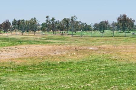 driving range: Golf balls on a driving range, Santa Clara, California