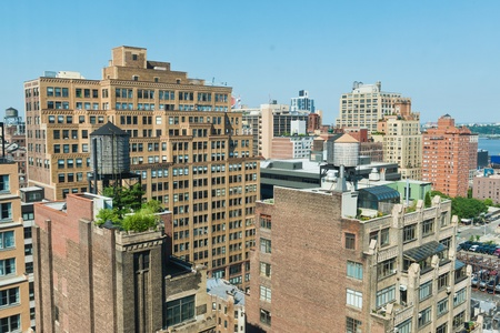 manhattans: Looking over rooftops on Manhattans West Side Stock Photo