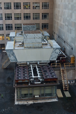 Rooftop heating and air conditioning, New York City photo
