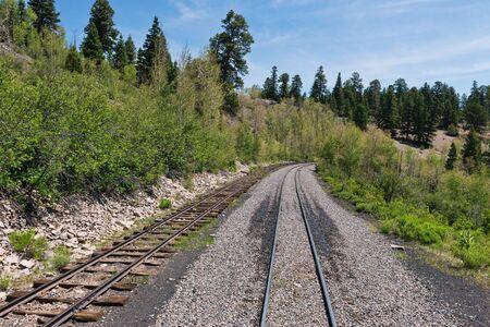 narrow gauge: Narrow gauge railroad tracks, Sublette, Colorado