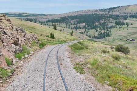 Narrow gauge railroad tracks in southern Colorado Reklamní fotografie