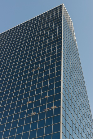 Rectangular patterns in a steel and glass skyscraper