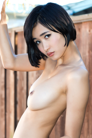 undressed young: Beautiful young Japanese woman Stock Photo
