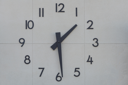 Giant clock on a building exterior wall
