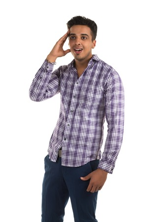 insightful: Handsome young Indian man with an insightful expression Stock Photo