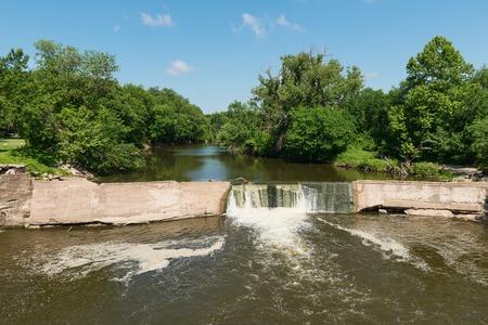 cottonwood  tree: The banks of the Cottonwood River, Cottonwood Falls, Kansas