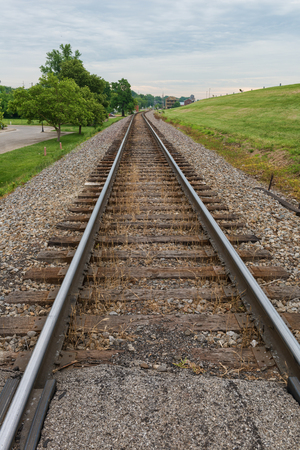 ridgeline: Rail line on a ridge, New Albany, Indiana