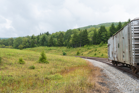 seneca: Railroad car in the hills, Spruce Knob-Seneca Rocks National Recreation Area, Cass, West Virginia