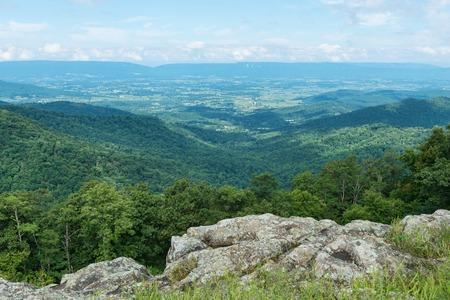 overlook: Mountain Vista from Franklin Cliffs Overlook, Skyline Drive, Shenandoah National Park, Virginia